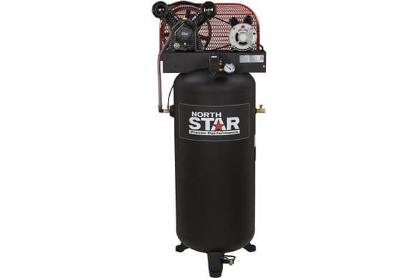 NorthStar 3 HP 230V Single Phase Electric Air Compressor with Vertical Tank, 60-Gallon