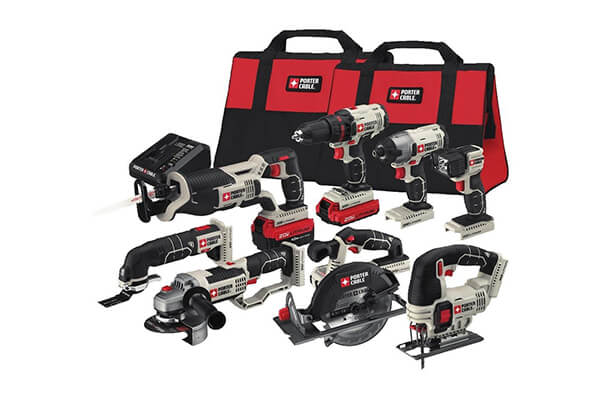 PORTER-CABLE PCCK619L8 20V Lithium Ion 8-Tool Combo Kit