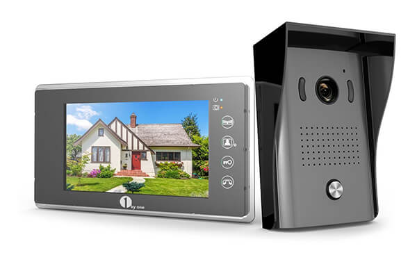 1byone Video Doorphone 2-Wires Video Intercom System 7-inch Color Monitor