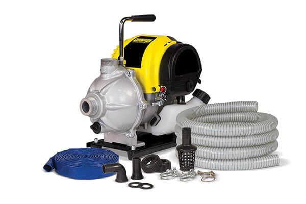 Champion Power Equipment Inch Water Transfer Pump with Hose Kit