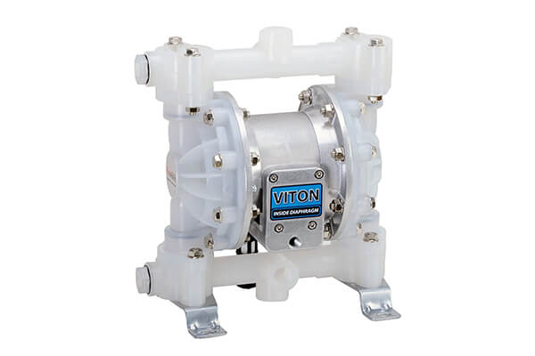 FUELWORKS Heavy Duty Air-Operated Aluminum Diaphragm Pump (Viton- 12GPM 1/2'')