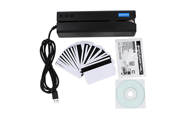 MSR605X USB 3-Track Magnetic Stripe Card Reader Writer Encoder ETEKJOY