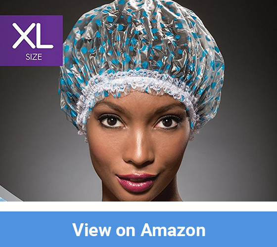 NaRaMax Shower Cap - Blue Dot Pattern