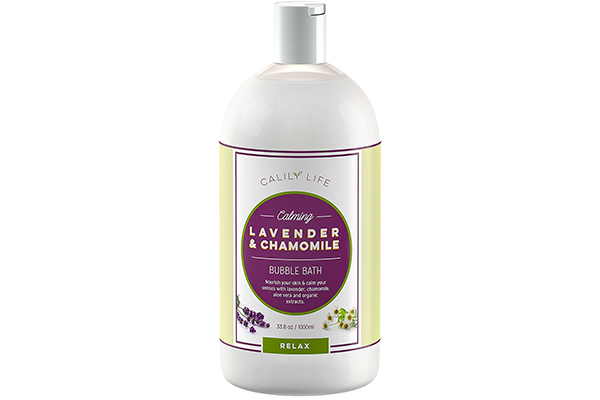 Calily Life Aromatherapy Lavender and Chamomile Bubble Bath Soak & Wash, 33.8 Oz.– Infused with Pure Essential Oils; Lavender, Chamomile, Aloe Vera & Organic Extracts –Relaxes, Soothes & Nourishes