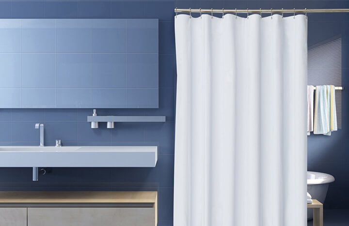Comfortable Best Shower Curtain Material Photos