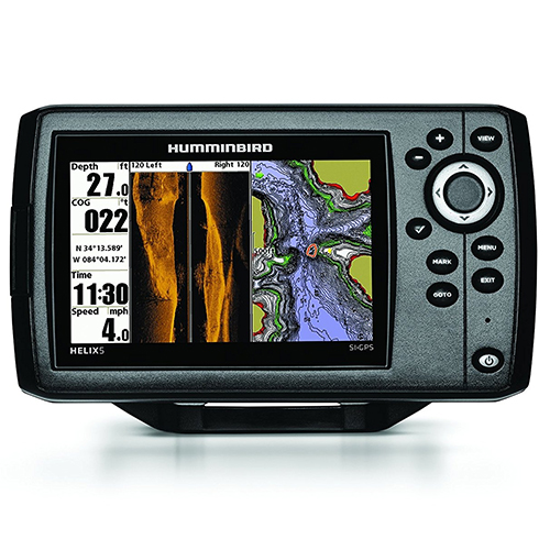 3. Humminbird 409640-1 HELIX 5 SI Fish Finder with Side-Imaging and GPS