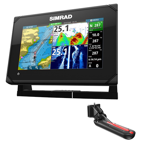 7. Simrad GO7 XSE Chartplotter/Fishfinder w/TotalScan Transom Mount Transducer