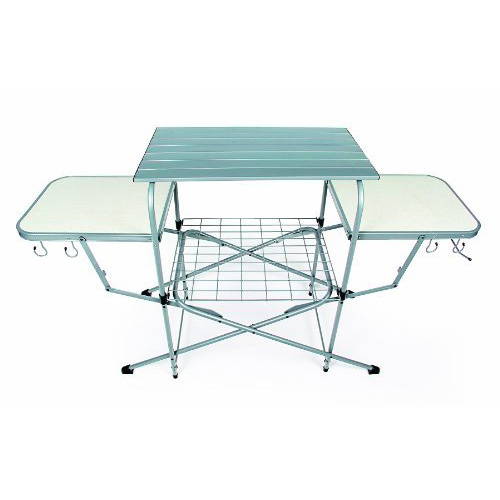 Camco Deluxe Folding Grill Table, Great for Picnics, Tailgating, Camping, RVing and Backyards; Quick Set-up and Folds Down to Only 6 Inches Tall For Convenient Storage