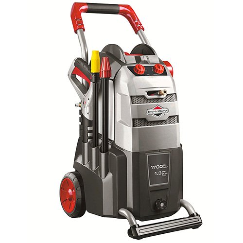 Briggs & Stratton 020508 Home Series Electric Powered Pressure Washer with RotoScrub Nozzle and Adjustable Spray Wand, 30-Feet Hose