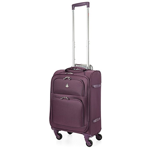 "Aerolite 22x14x9"" Carry On MAX Lightweight Upright Travel Trolley Bags Luggage Suitcase, 4 Wheel Spinner, Maximum Allowance"