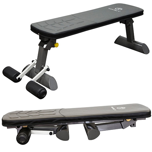 Marcy Deluxe Folding Flat Bench with Transport Handle SB-10500