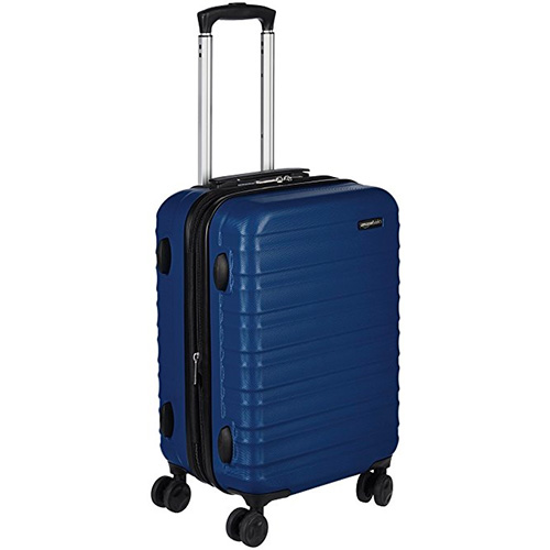 AmazonBasics Hardside Spinner Luggage, Blue