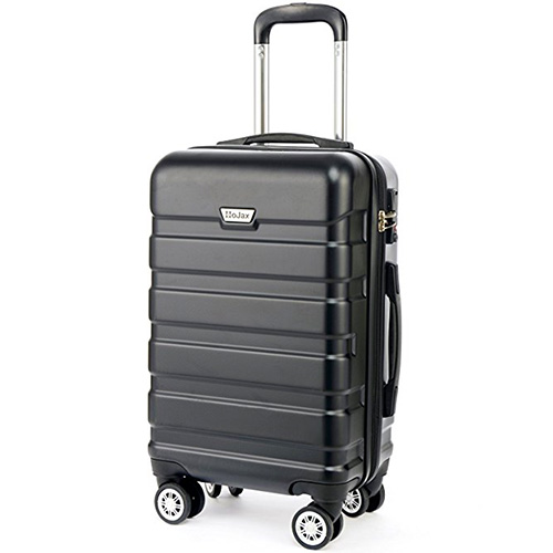 HoJax 20 x 24 Inch P.E.T Luggage Eco-friendly Travel Suitcase With 4 Spinner Wheels