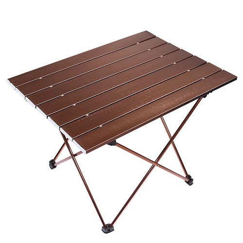 FOXTAGE Portable Camping Table, Aluminum Hard-Topped Outdoor Folding Table, Lightweight Picnic Table for Tent Fishing Beach Party Patio Yard ( With Carry Bag)