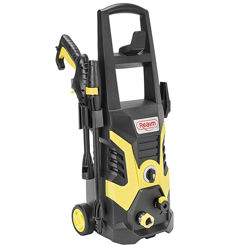 Realm BY02-BCOH Electric Pressure Washer, 2200 PSI, 1.75 GPM, 13 Amp With Spray Gun, Adjustable Nozzle, Detergent Bottle, Yellow/Black