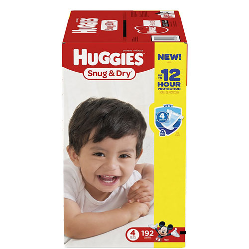 HUGGIES Snug & Dry Diapers, Size 4, for 22-37 lbs., One Month Supply