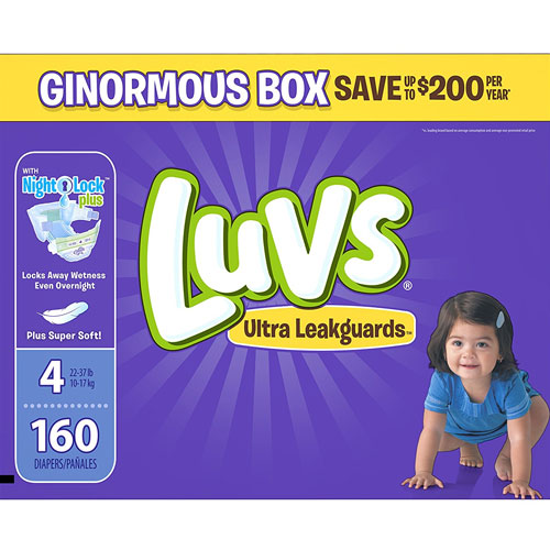 Luvs Ultra Leakguards Disposable Diapers Size 4