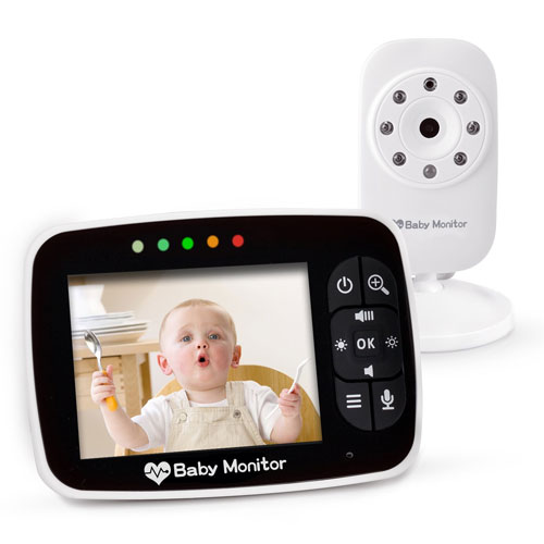 """Video Baby Monitor 3.5"""" Large LCD Screen Display with Night Vision Camera"""