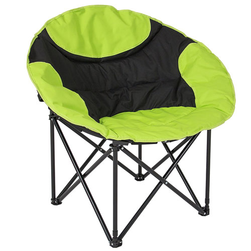 Best Choice Products Folding Lightweight Moon Camping Chair Outdoor Sport