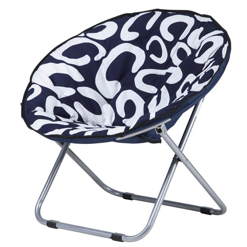 LandTrip Oversized Large Folding Saucer Moon Chair Corduroy Round Seat Living Room