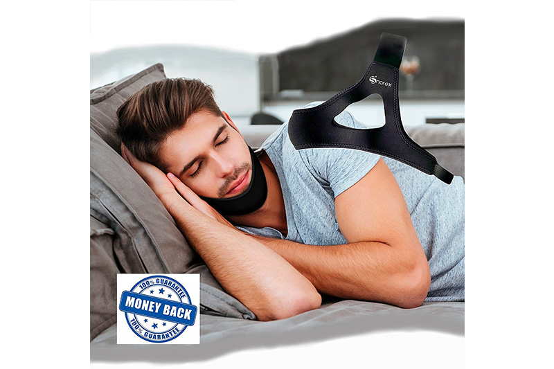 SNOREX™ ANTI SNORE CHIN STRAP - Stop Snoring Aid