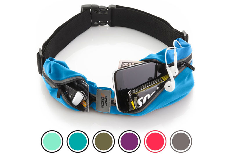 Sport2People Running Belt USA Patented. Fanny Pack for Hands-Free Workout