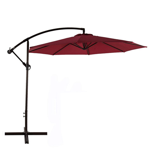 AMT Deluxe Adjustable Offset Cantilever Hanging 10' Patio Umbrella