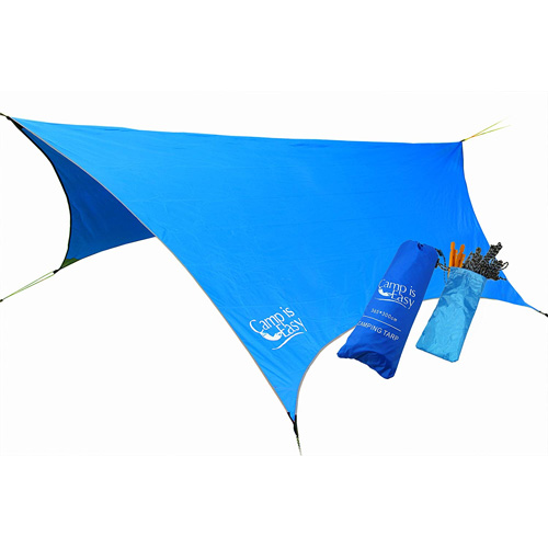 Waterproof Rip Resistant Camping Tarp For Any weather. Perfect Tent cover Or Hammock Rain Fly.