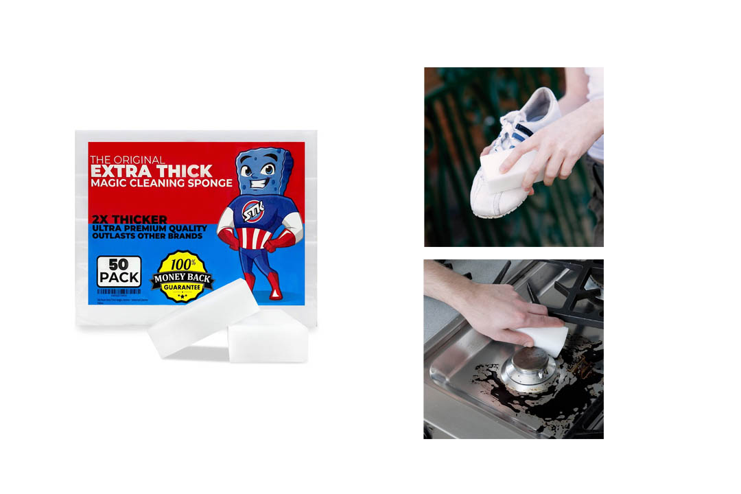 STK 50 Pack Extra Thick Magic Cleaning Sponges