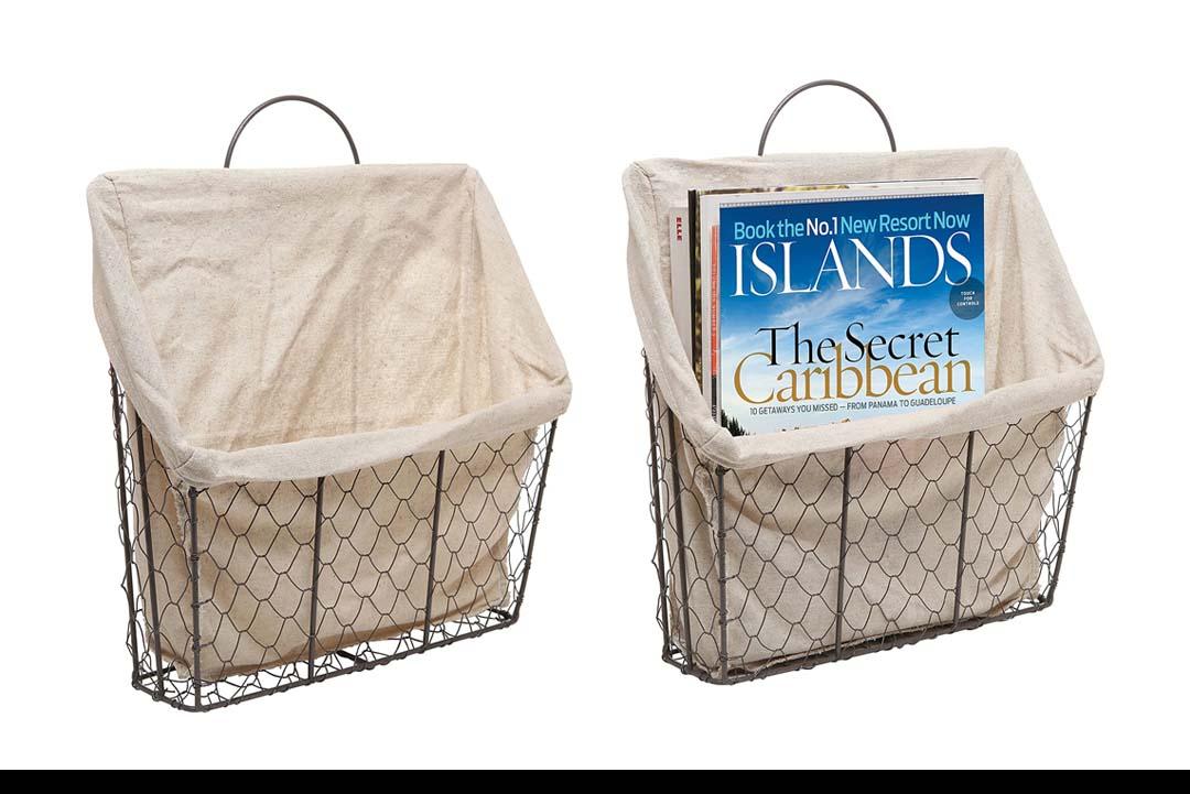 Country Rustic Storage Basket Bin