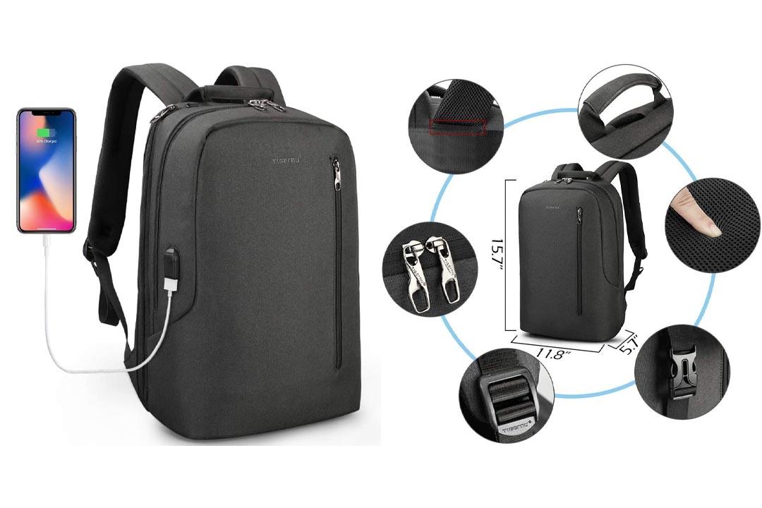 LAPACKER 15.6 Anti Theft Slim Water Resistant Laptop Backpack
