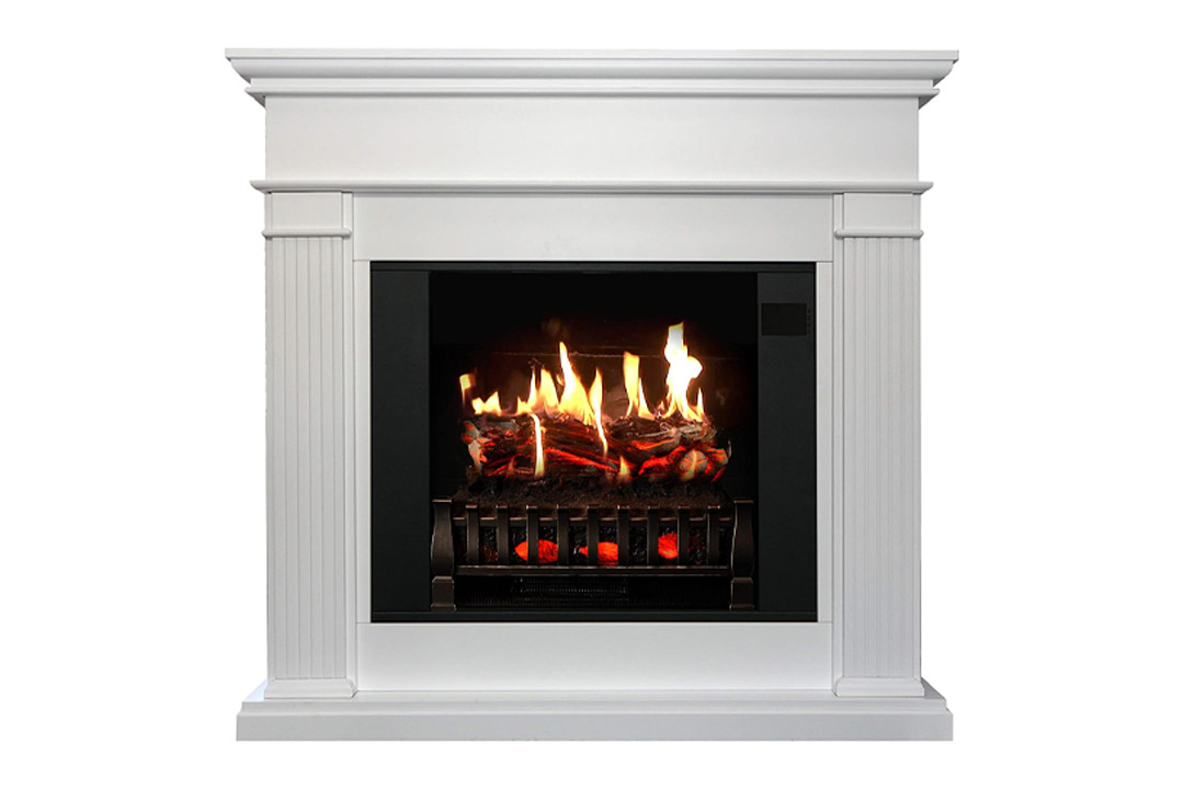 MagikFlame Electric Fireplace and Mantel in Espresso Cherrywood Finish