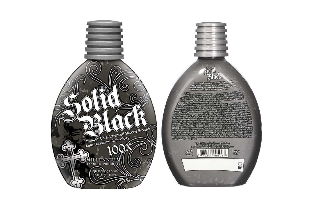 New Solid Black Bronzer Tanning Bed Lotion