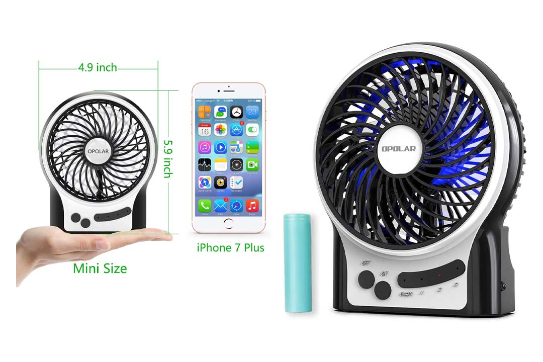 OPOLAR F201 Rechargeable Portable Mini USB fan