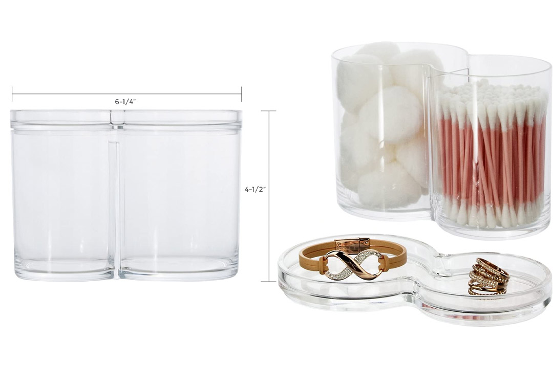 Plastic Cotton Ball and Swab Holder