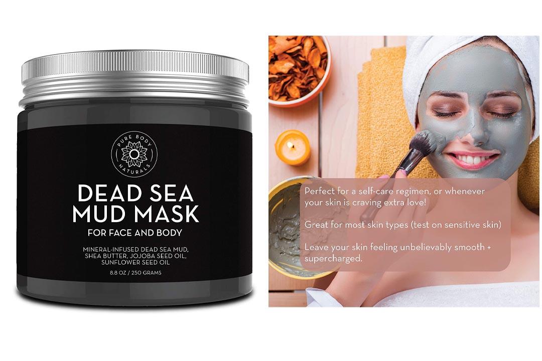 Pure Body Naturals Beauty Dead Sea Mud Mask for Facial Treatment
