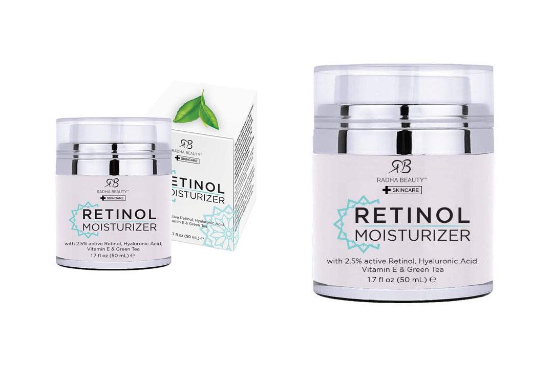 Radha Beauty Retinol Moisturizer Cream for Face and Eye Area