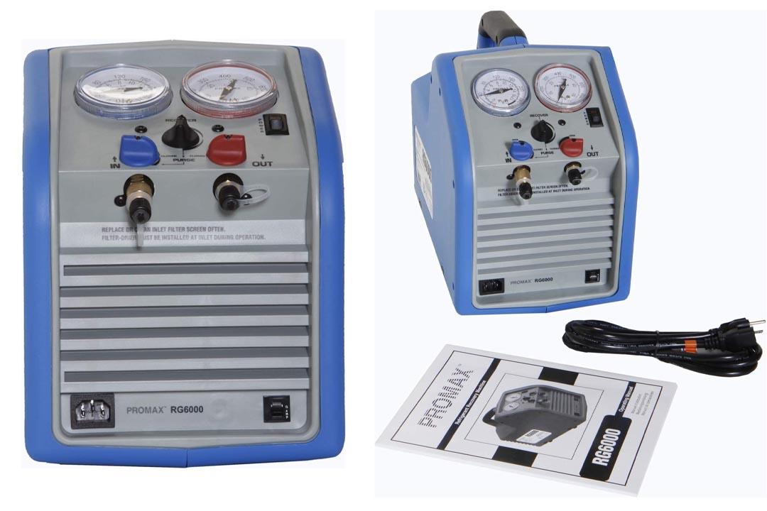 Robinair RG6 110V AC, 60 Hz Portable Refrigerant Recovery Machine