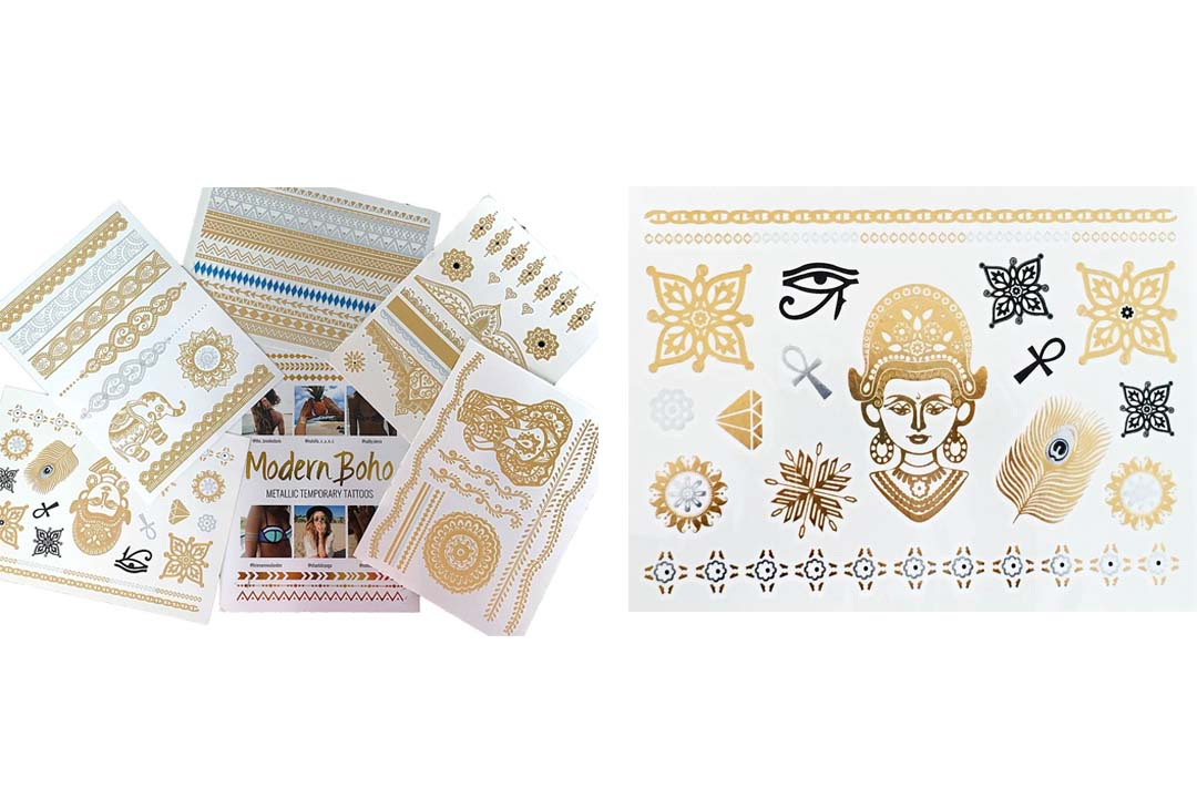 5 Sheets Metallic Tattoos