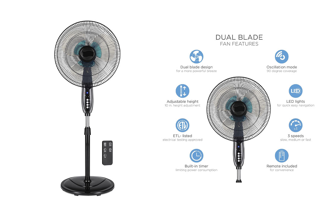 Best Choice Products 16in Adjustable Cooling Oscillating Standing Pedestal Fan