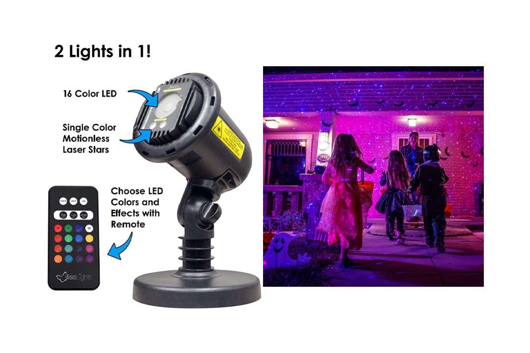 BlissLights 16 Color LED + Red Laser Projector
