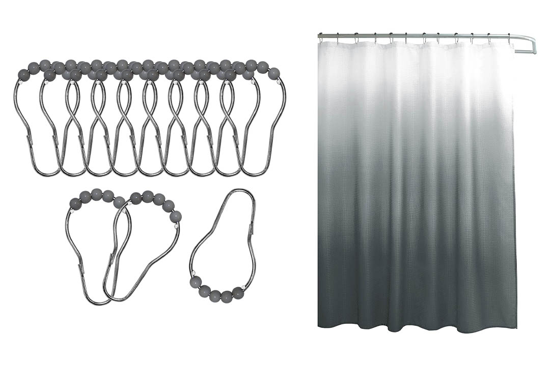 Creative Home Ideas Ombre Waffle Weave Shower Curtain