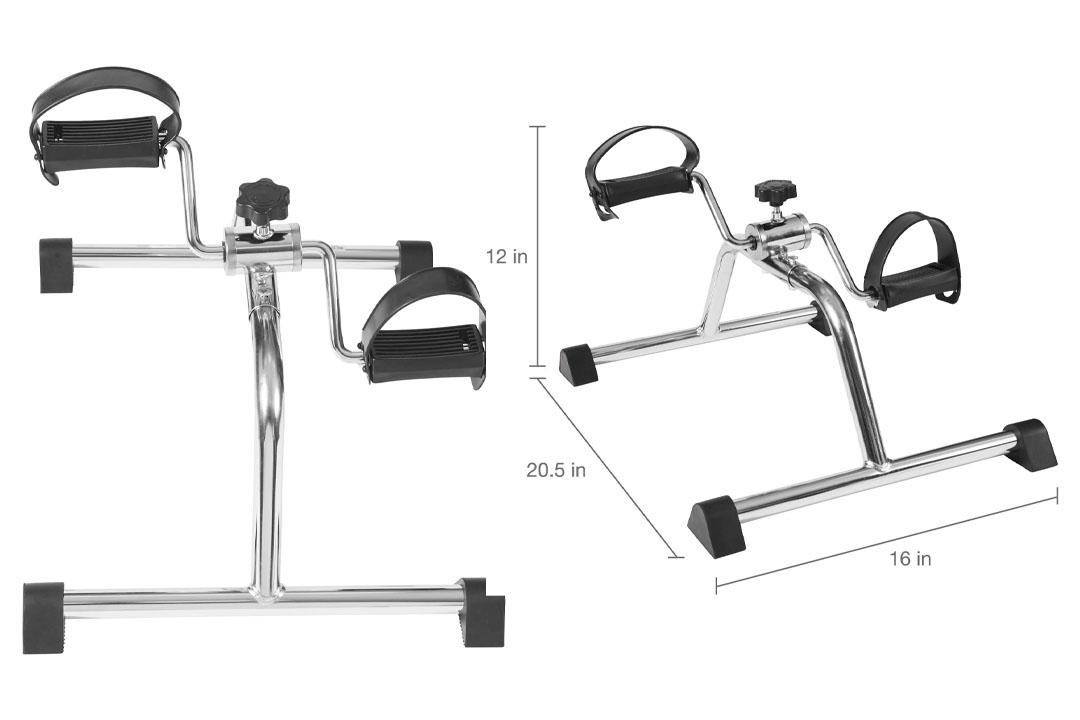 DMI Lightweight Mini Pedal Exerciser Leg and Arm Exerciser