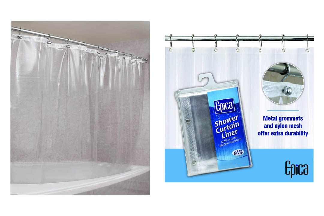 Epica Strongest Mildew Resistant Shower Curtain Liner on the Market