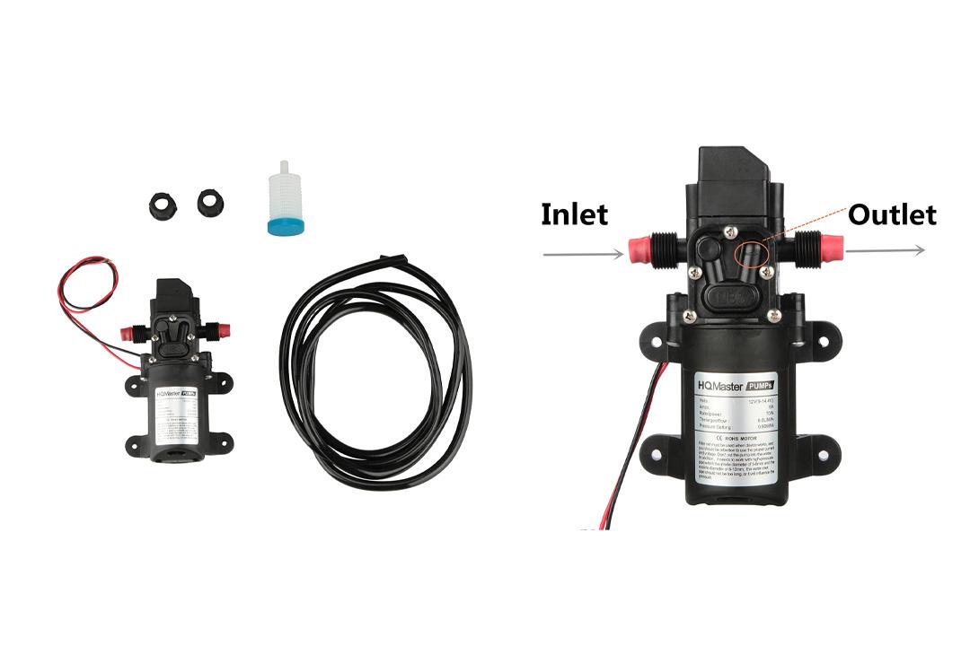 HQMaster Diaphragm Pump DC 12V 70W 6L/Min