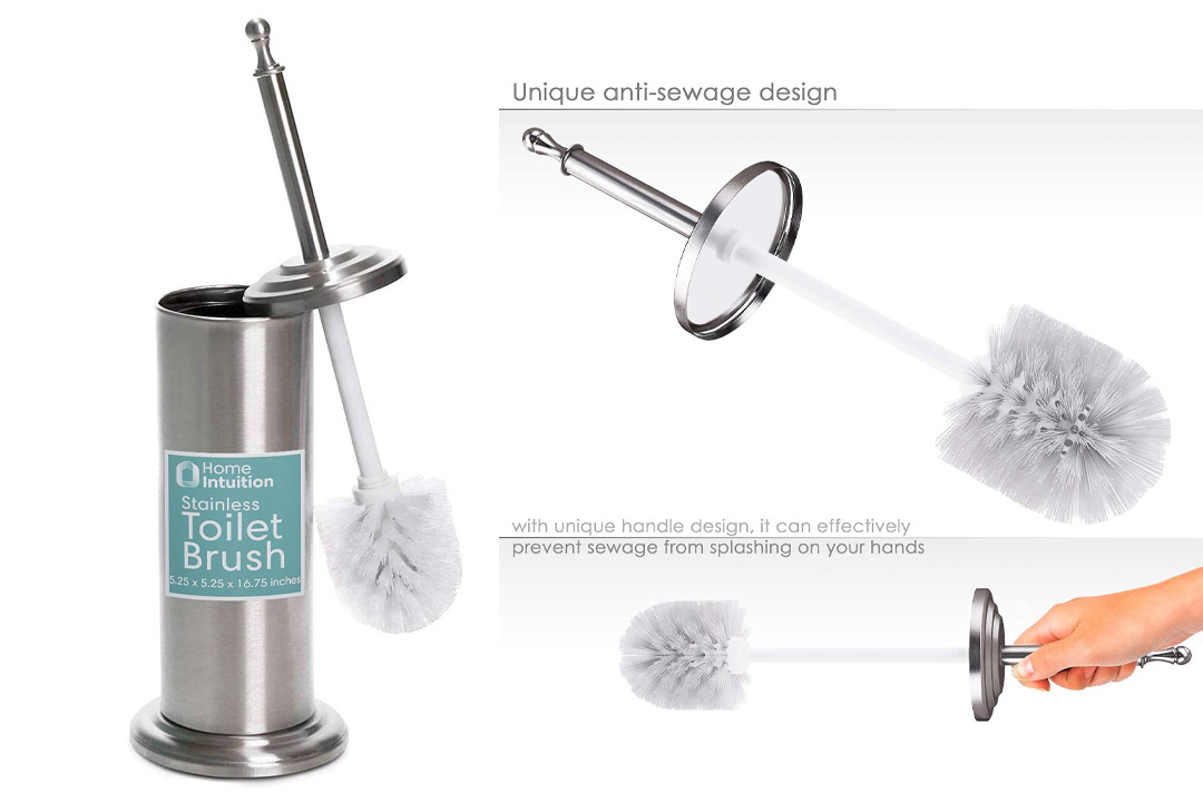 Home Intuition Stainless Steel Toilet Brush