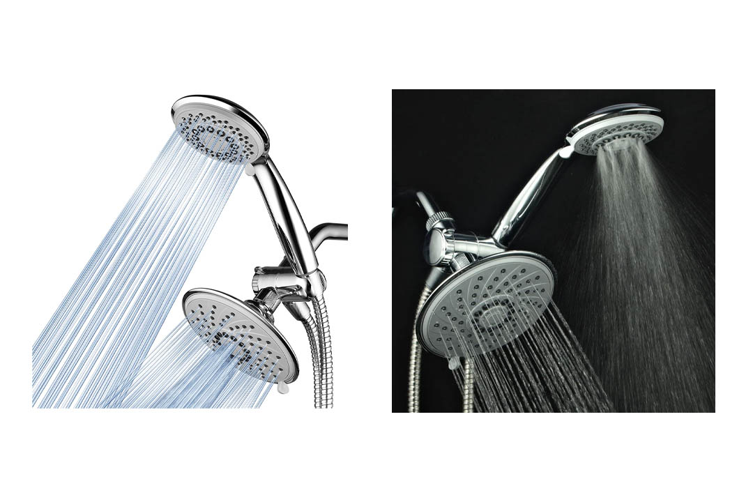 HotelSpa® 30-Setting Ultra-Luxury 3 way Rainfall Shower-Head