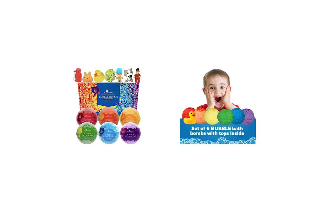 Kids BUBBLE Bath Bombs with Surprises Inside