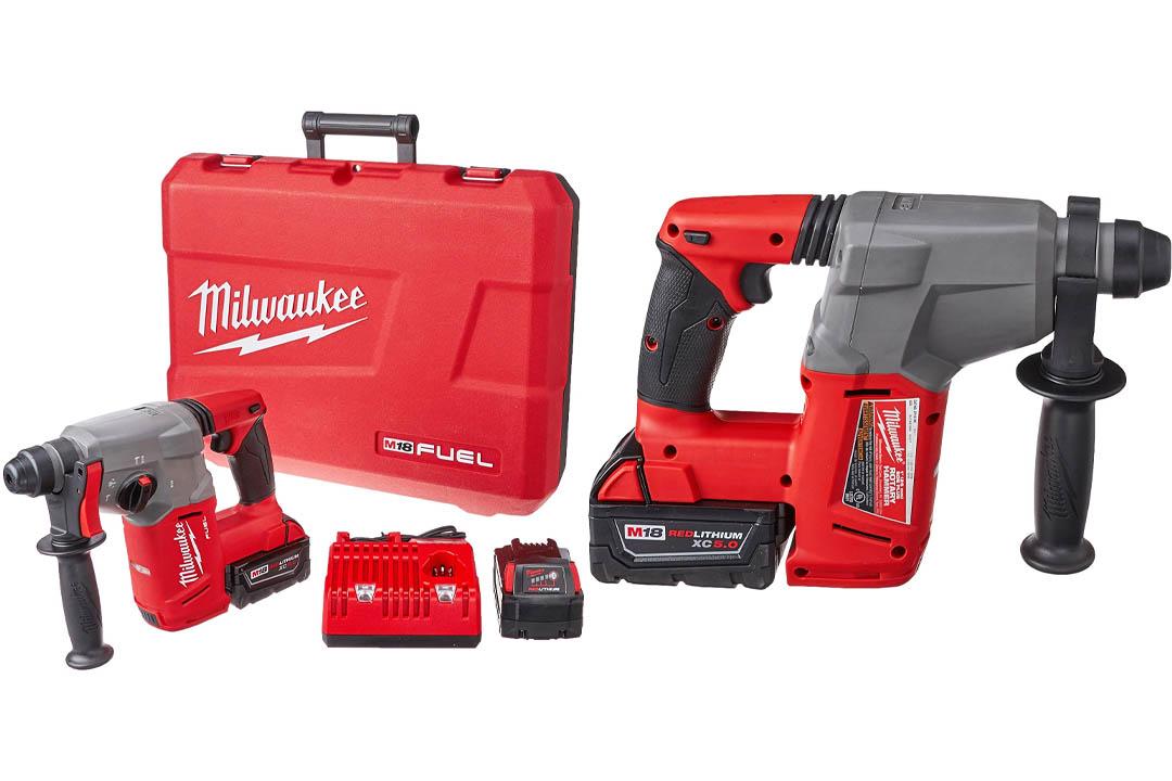 """Milwaukee 2712-22 M18 Fuel 1"""" SDS Plus Rotary Hammer Kit"""
