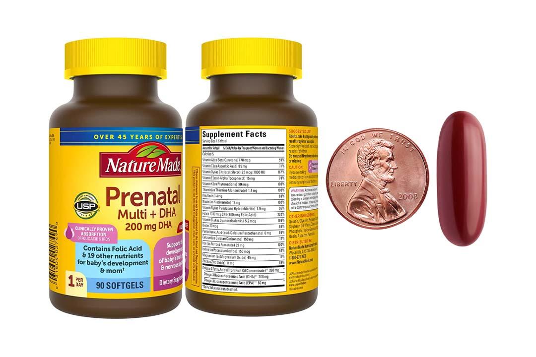 Nature Made Prenatal Multi + DHA 200 Mg Softgels
